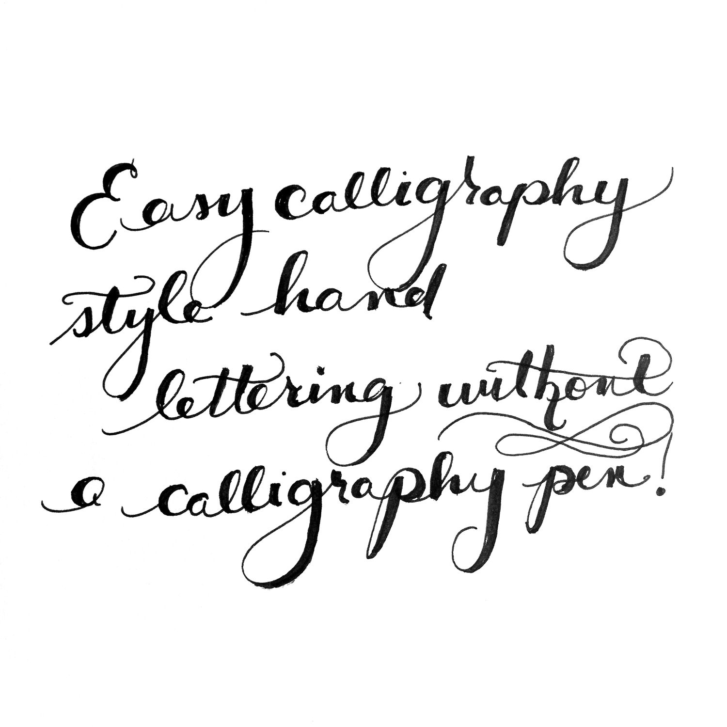 Diy how to letter hand calligraphy without a calligraphy Easy calligraphy pen