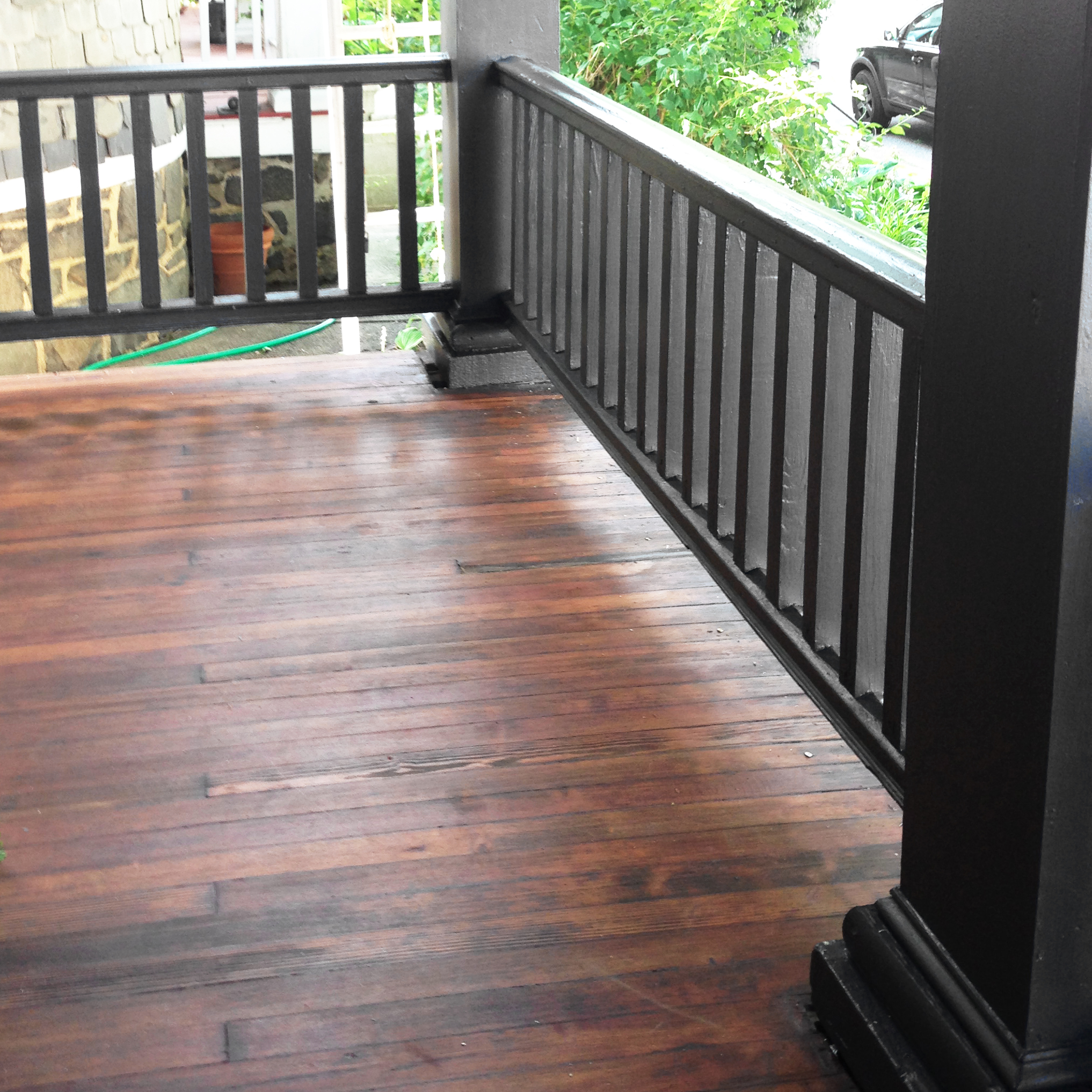 Diy Remove Paint Amp Refinish Front Porch Wood Flooring
